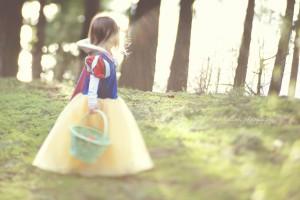 child as snow white